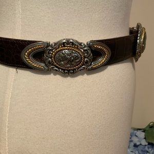 Brighton Alligator Print Faux Leather Belt
